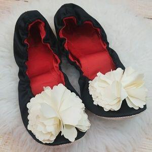 Kate Spade Charlene satin ballet flat slippers 9